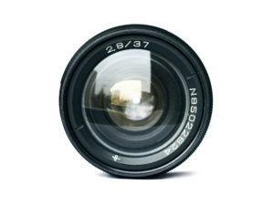 Camera lens representing marketing resources