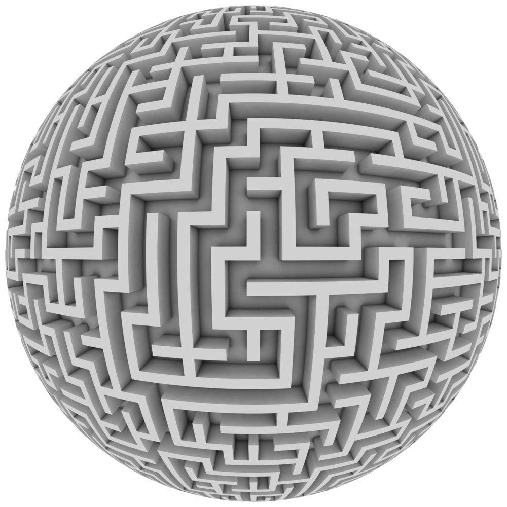 Maze-on-a-sphere