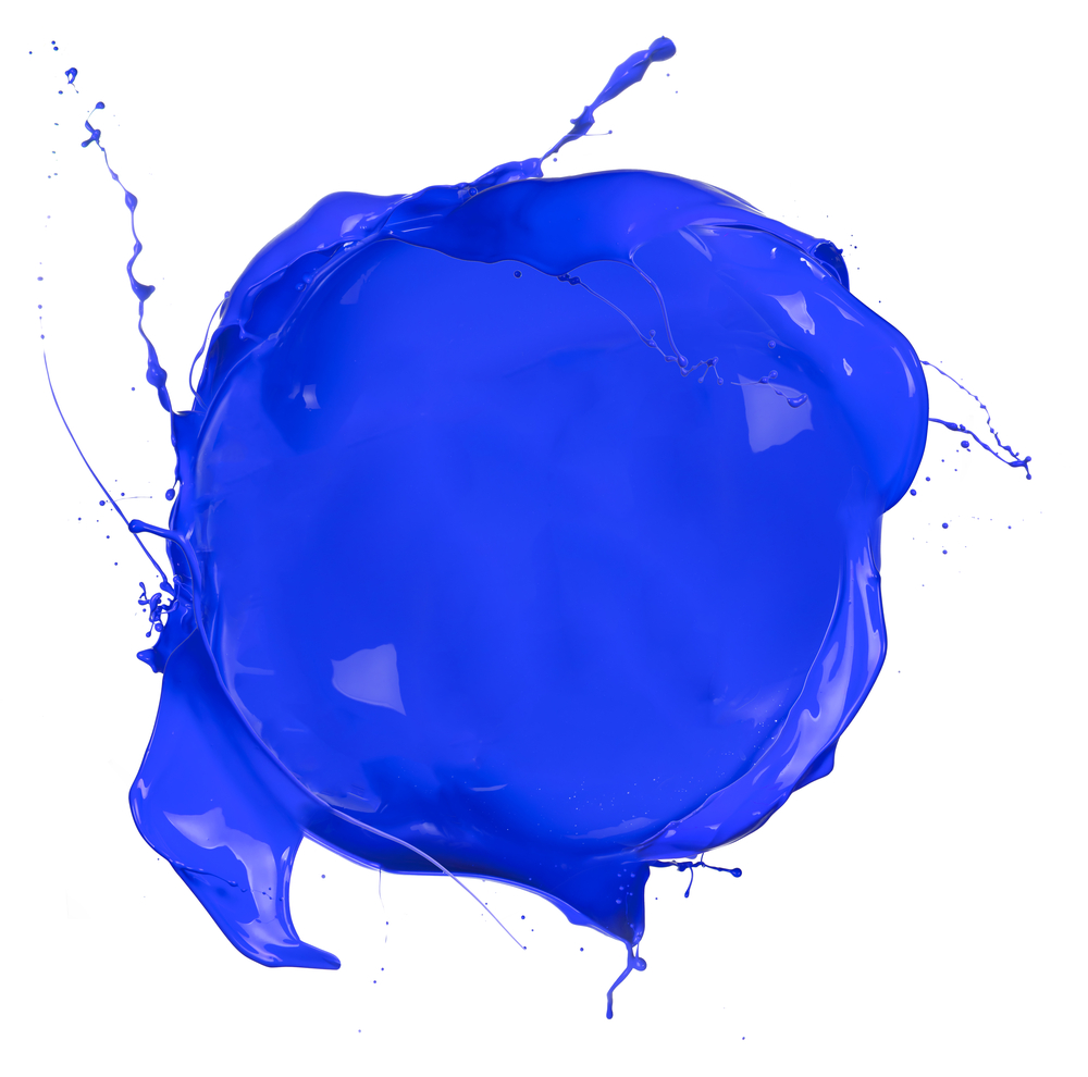Paint Blob Blue Glass Halo Marketing