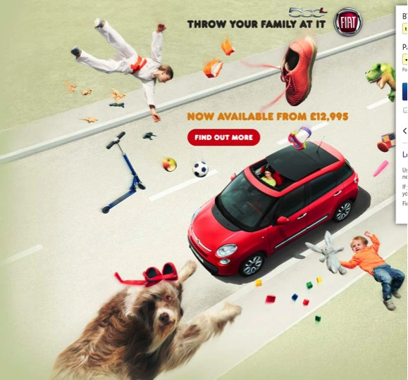 Fiat advert - Did an art director check this image